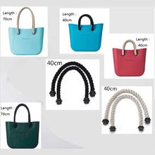 1 pair Black Natural Short  Women's bags Hemp Rope Handles Strap for O bag AMbag Shoulder bag handbag taping obag  40cm(China (Mainland))
