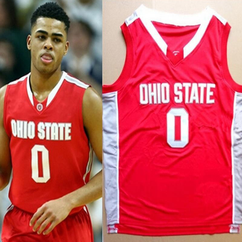 High Quality Men's #00 Russell Ohio State Basketball Jersey Sullinger Buckeyes Throwback Red Stitched Jerseys Customize Any Size(China (Mainland))