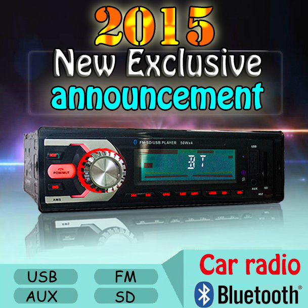 2015 bluetooth car radio 1 din mp3 dvd player usb SD fm tuner coche audio som