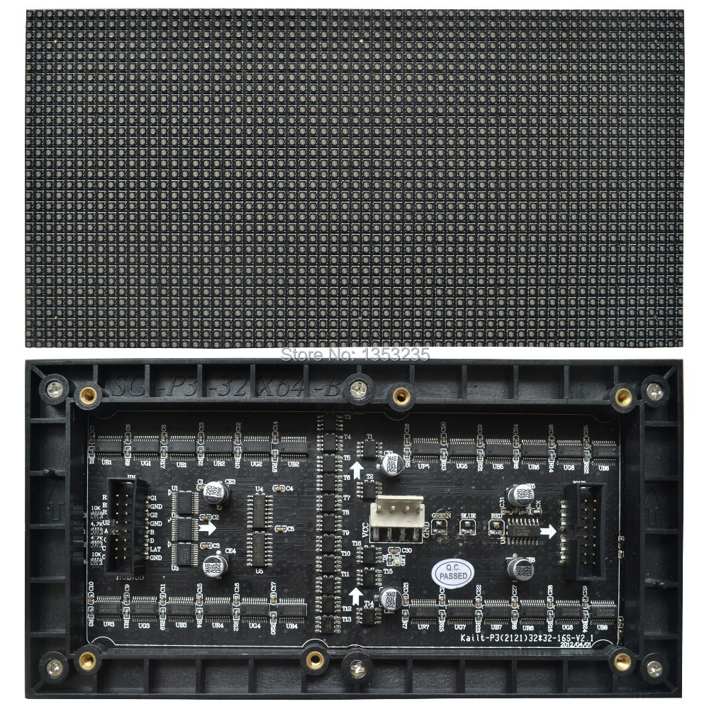 P3 Indoor SMD2121 RGB LED Display Module,192mm x 96mm, 64*32 pixle, Video,images,picture,really HD,Hub75,16pin,P3 LED Module(China (Mainland))