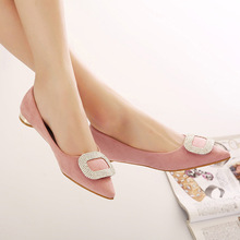 The spring and summer of 2015 shallow mouth new fashion shoes pointed flat flat with Korean