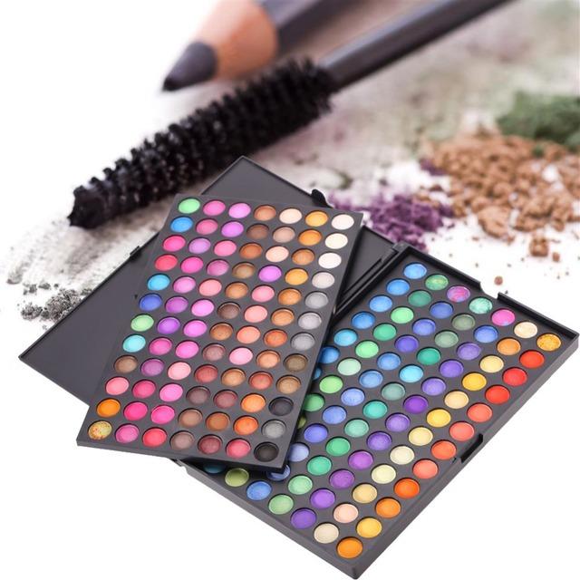 Горячая продажа Моды 168 Цветов Палитры Макияжа Набор Нейтральный & Shimmer Матовый Косметическая тени для век 1 #