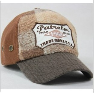 Free Shipping Cashmere yarn baseball cap male Women autumn and winter warm hat