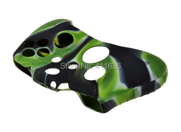 Skin Grip Cover for XBOX One Wireless  Controller Camo  Black Green Silicon Case 20PCS/LOT<br><br>Aliexpress