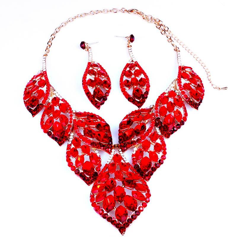 Мода перо дизайн позолоченный кристалл себе ожерелье и серьги люкс африканских дубай свадебные украшения наборы