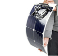 100W/12v Black backing semi flexible solar panel come with diodes and MC4 connector