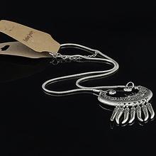 Tibetan jewelry new bohemian national wind original handmade jewelry Tibetan silver Miao Silver Necklace
