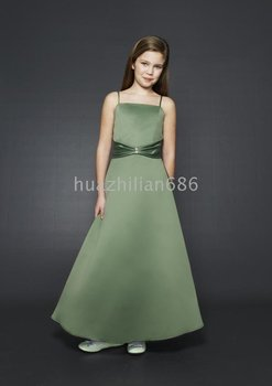A-line Spaghetti Straps Floor-Length Flower Girl Dresses 2009 Style SKU510206