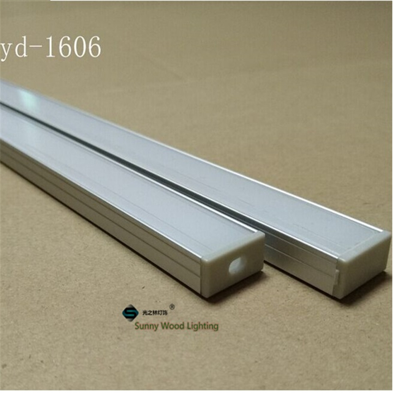 1meter aluminium profile led strip base bar light 16mm pcb fittings YD-1606