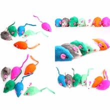 2016 Мода Новый Прекрасный Яркий Цветной Немного Смешно Милый Мыши Игрушки Для Домашних Животных прекрасный
