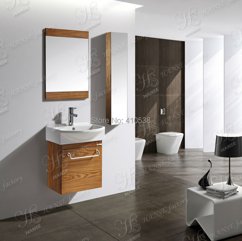 Small Bathroom Cabinet Solid Wood Bathroom Sink Wall Hung Bathroom