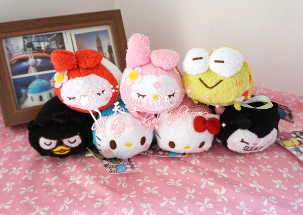 Best Sale Tsum Tsum Mini Hello Kitty Sanrio Melody Little Twin Stars Stuffed Plush Toys Soft Animal Dolls Girls Gifts Brinquedos(China (Mainland))