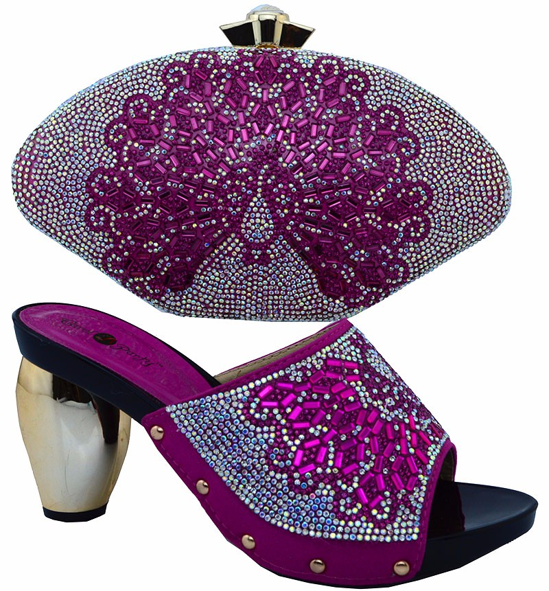 2017 New Arrival High Quality Italian Shoes And Bags To Match/Matching Italian Shoe And Bag Sets For Women Dresses!