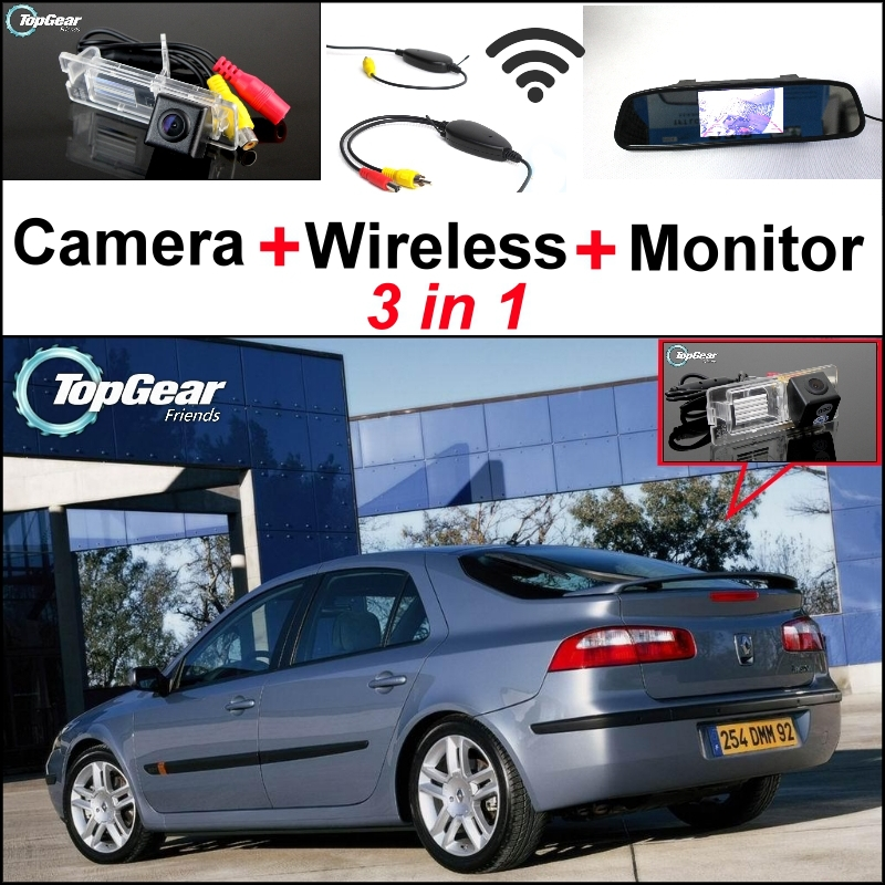 3 in1 Special Rear View Camera + Wireless Receiver + Mirror Monitor Easy Parking System For Renault Laguna 2 3<br><br>Aliexpress