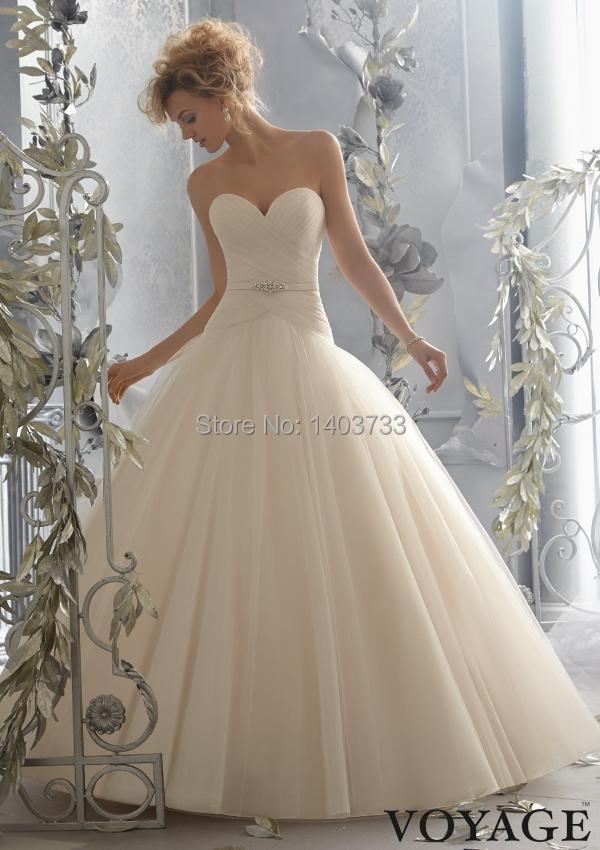 Fashion ball gown drop waist wedding dress 2015 sweetheart for Low waist wedding dress