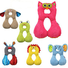 Animal Dolls Baby Neck Pillow Type U Travel Pillow Baby Car Seat Cushion for 1-4years Old(China (Mainland))