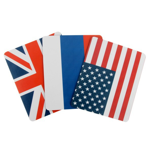 Durable Thicken Laptop/Desktop Mouse Pad Flag Pattern Mice Mat For Optical/Trackball Mouse(China (Mainland))