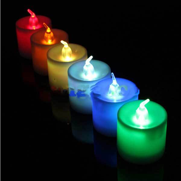 Ariesale 7 Color LED Changing Flash Candle Light Flicker Electronic Flameless(China (Mainland))