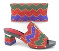 2017 Latest African Shoe With Bags Set Colorful Sandal Italian Shoe With Matching Bag For Party
