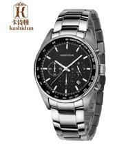 Ksd 2015 calientes de la venta relojes de cuarzo 100 m hombres impermeables de múltiples funciones del reloj de acero inoxidable reloj de hombre