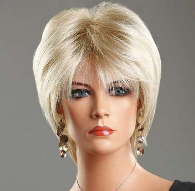 Free Shipping>>>Ladies Short Wig Blonde Black Brown straight Wig Bob Boycut Wedge Style Wigs(China (Mainland))