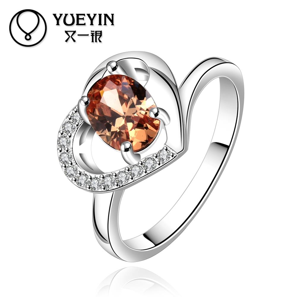 Wholesale Factory cheap Price R639 8 Silver plated new design delicate Ruby Ring for Women