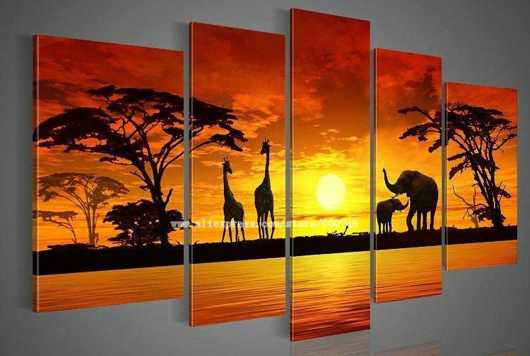 Wall Art Seascape Sunset Acrylic Paintings Sunset
