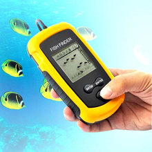 Portable Fish Finder Sonar LCD Tester Fishfinder Alarm depth 100M AP fishing Lure Tool  Electronic Transducer fishing finder(China (Mainland))