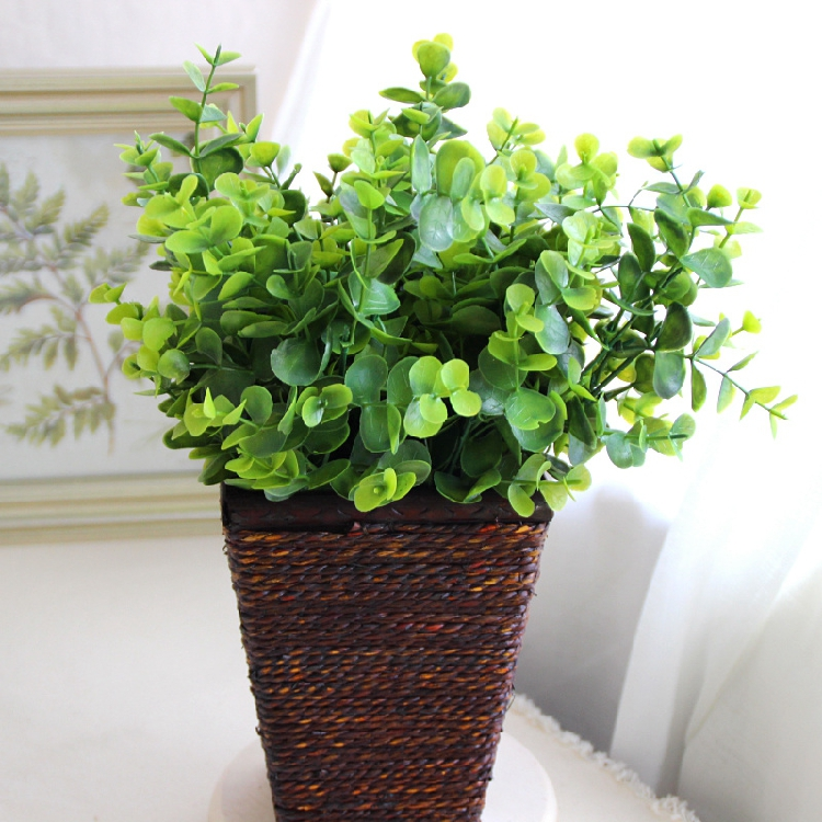 2015 Home Furnishing Table Living Room Decoration Quality Plastic Flower Parts Simulation Plants Fake artificial grass green(China (Mainland))