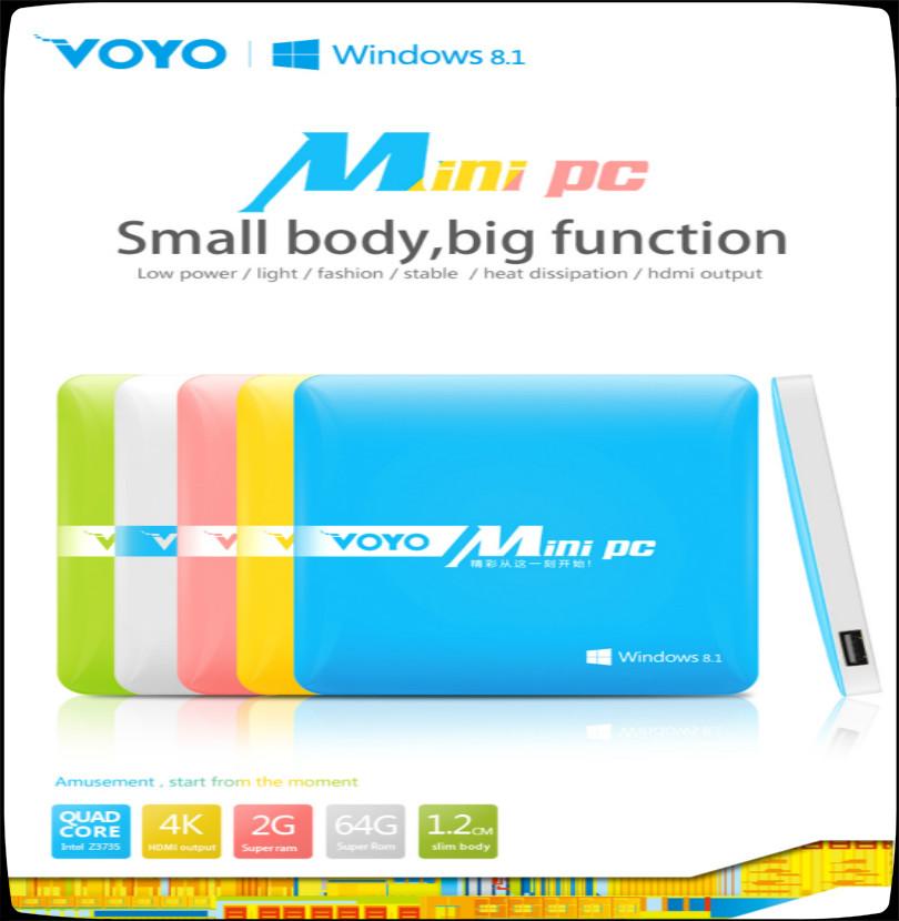 Original Voyo Mini PC Windows 8 1 2GB RAM 64GB ROM Intel Z3735 Quad Core Business