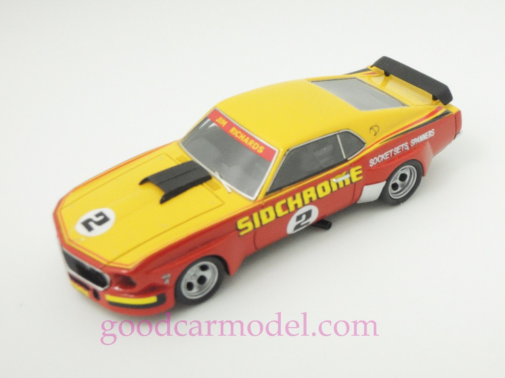 New ACE 1:43 Car Model 1970 Racing Sidchrome Mustang of Jim Richards Free Shipping From HK(China (Mainland))