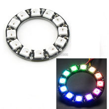 5pcs/lot DIYmall 12 Bits 12 X WS2812 5050 RGB LED Ring Lamp Light with Integrated Drivers  for Arduino(China (Mainland))