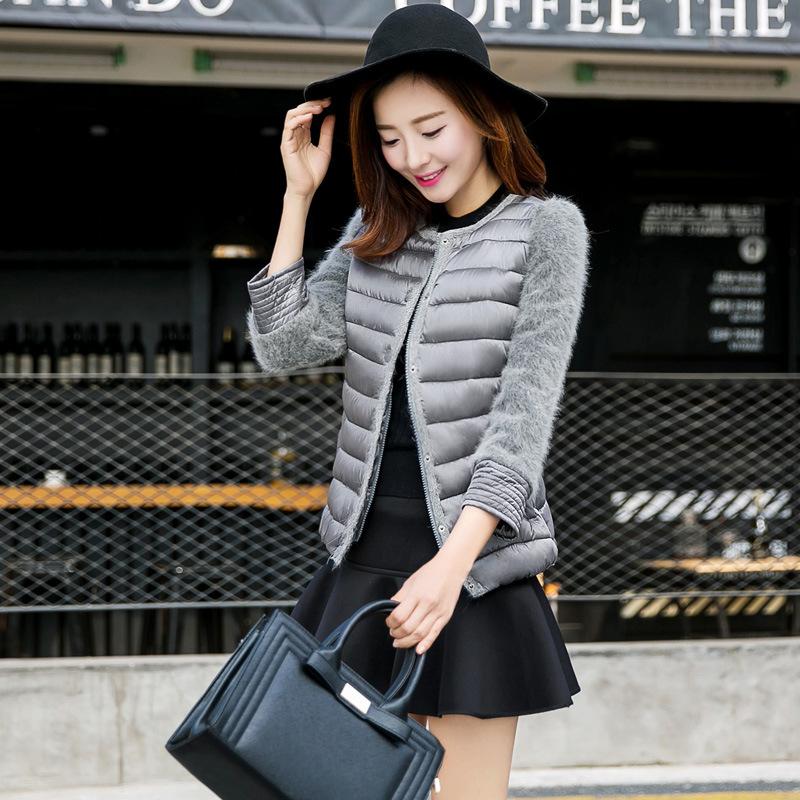 The New High-End Women'S Winter Coat Nine Points Sleeve Stitching True Minimalist Fashion Velvet Mink Jacket W0326