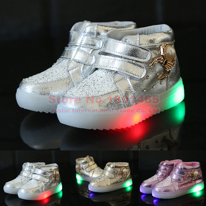 FASHION NEW LED luminous LED Sneakers Kids & Children PU Colorful Light Sports LED Shoes light up boy & girl Shoes 02(China (Mainland))