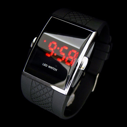 digital led sports wrist watch for men women 2015 newest black white silicone watches with red. Black Bedroom Furniture Sets. Home Design Ideas