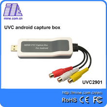 USB2.0 android capture card with RCA composite and S-video input for camera on notebook and tablet PC , Ipad,Amdroid box