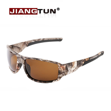 JIANGTUN 2016 Top Fashion Camo Black Polarized Sunglasses Men Cool Style Outdoor Sport Sun Glasses Fishing Glasses High Quality