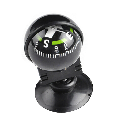 Mini Round Ball Auto Car Compass with Suction Base Adhesive Boat Truck Navigation Dashboard Compass Ball Black [ 1 pc ](China (Mainland))