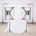 Photography Studio Soft Box Lighting Kits Light Stand SoftBox E27 4 Lamp Holder Background Cross Bar