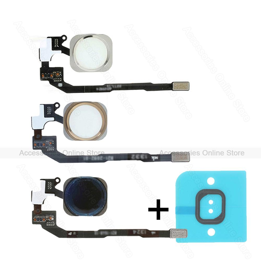 OEM For iPhone 5s Back Home Button Set Touch ID Assembly Flex Cable Gold Black White Replacement(China (Mainland))