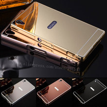Buy Sony Xperia Z1 Case NEW Luxury Gold Silver Plating Aluminum Frame + Mirror Acrylic Back Cover Sony Xperia Z1 Phone Cases for $2.79 in AliExpress store