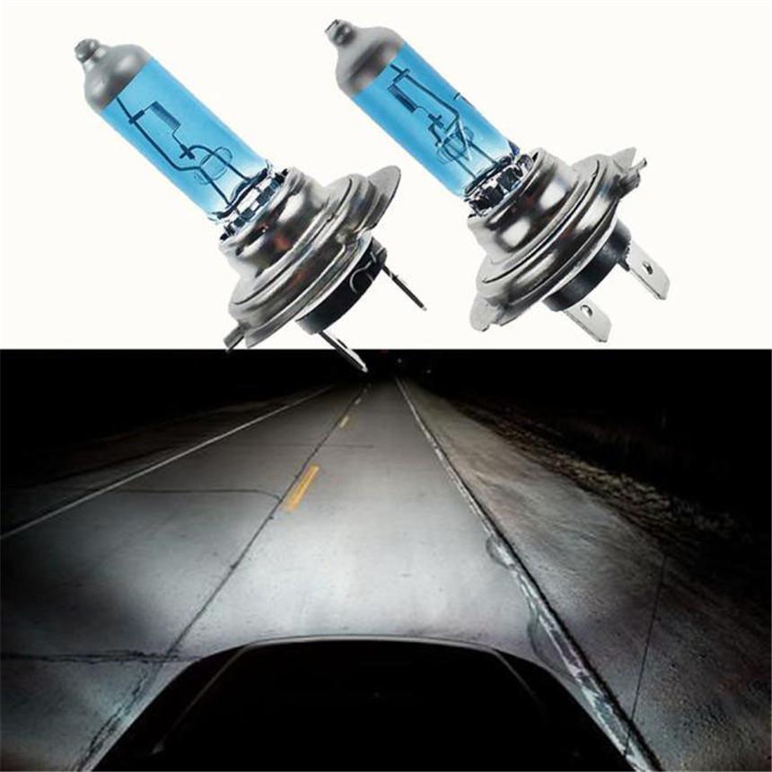 2017 Car-styling 2pc H7 6000K Xenon Gas Halogen Headlight White Light Lamp Bulbs 100W 12Vcar accessoreis #5.30(China (Mainland))