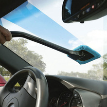 Microfiber Auto Window Cleaner Long Handle Car Wash Brush Dust Car Care Windshield Shine Towel Handy Washable Car Cleaning Tool(China (Mainland))