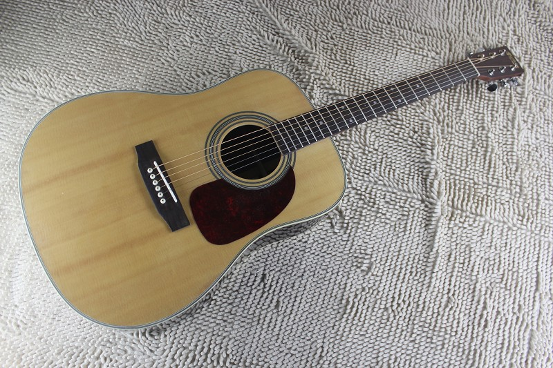 free shipping fishman eq included Dreadnought Spruce Top Acoustic guitar 28 jumbo acoustic Electric guitar 1411(China (Mainland))