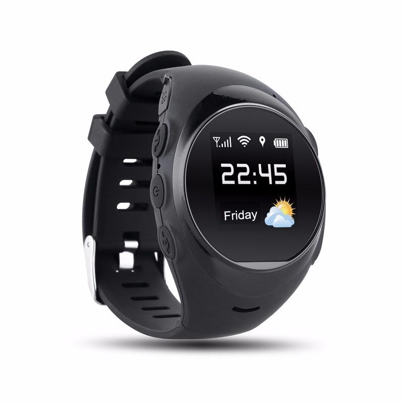 """ถูก สำหรับคนเก่าGPS Watch S888 Android/IOSสมาร์ทนาฬิกาข้อมือ1.2 """"SOS GPS LBS WIFIบลูทูธq uadrupleค้นหาตรวจสอบระยะไกล"""