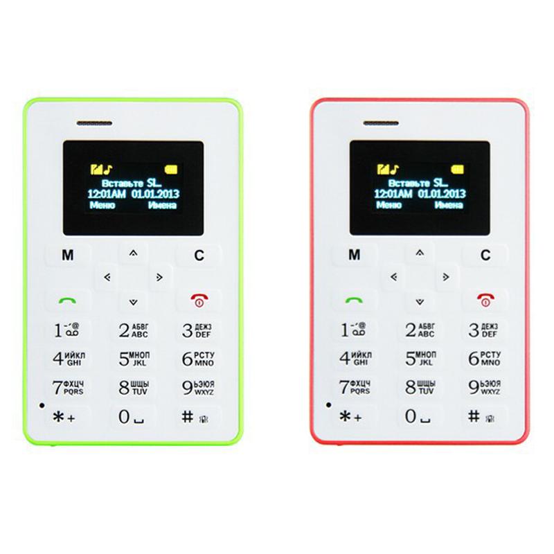 Russian Keyboard AIEK M5 Card Cell Phone 4.5mm Ultra Thin Pocket Mini Phone Quad Band Low Radiation AEKU M5 Card mobile Phone(China (Mainland))