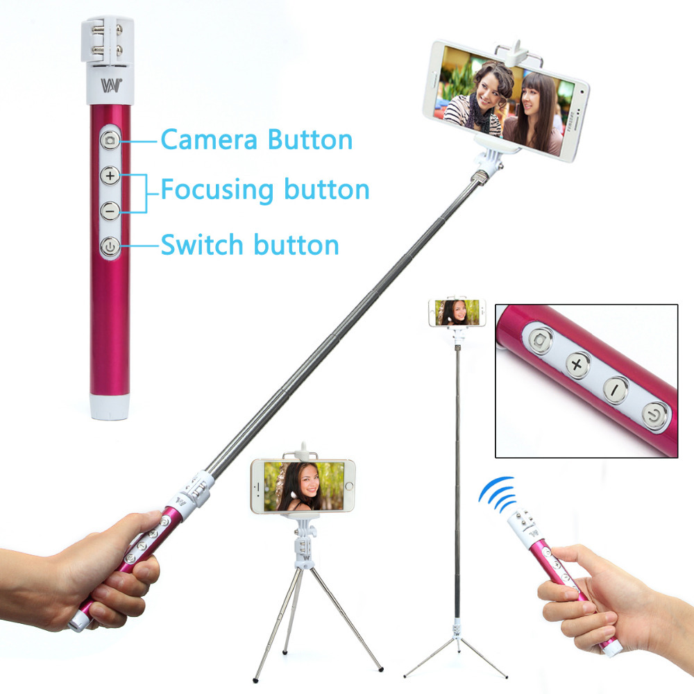 buy handheld monopod selfie stick tripod bluetooth shutter r. Black Bedroom Furniture Sets. Home Design Ideas