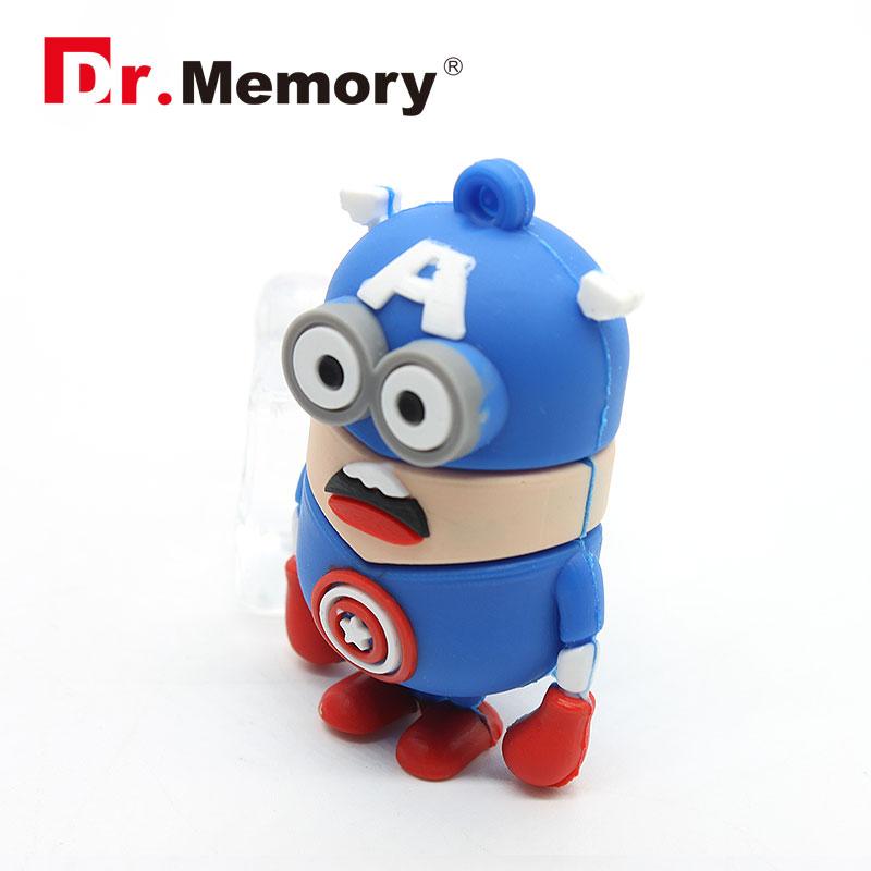 2016 Hot sale new hero usb flash drive minion pen drive Iron man pendrive 4g/8g/16g/32g USB stick flash card Captain america(China (Mainland))