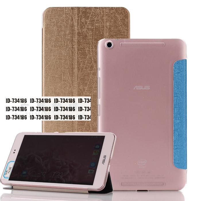 For Asus MEMO Pad 8 ME581C ME581CL ME581 Slim Back Transparent Clear Pattern PU Leather Skin Protective Cover Tablet Sleeve Case(China (Mainland))