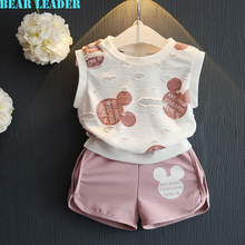 Bear Leader Girls Clothing Sets 2016 Fashion Summer Kids Clothing Sets Lovely Doll Print T-shirt+Short 2Pcs for Girls Clothes(China (Mainland))